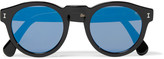 Illesteva - Leonard D-frame Acetate Mirrored Sunglasses
