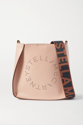 Stella McCartney Small Perforated Vegetarian Leather Shoulder Bag - Pink