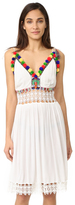 Pia Pauro Shoulder Tie Embroidered Sundress