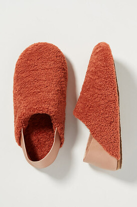 Anthropologie Rue Sherpa Slippers By in White Size S