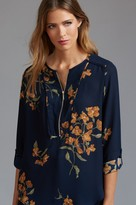 Dynamite Long Sleeve Blouse with Zip