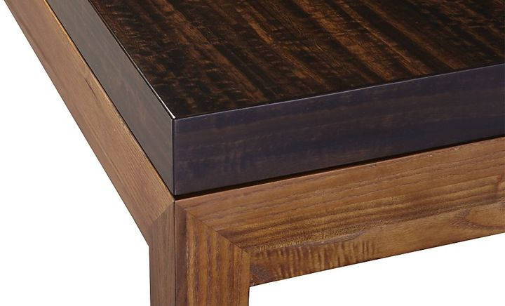 Crate & Barrel Parsons Myrtle Top/ Elm Base 72x42 Dining Table