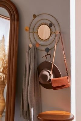 Urban Outfitters Cosmic Orbit Wall Mirror Coat Hook - Gold ALL at