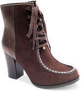 Nanette Lepore Nanette by Isabel Block-Heel Lace-Up Booties