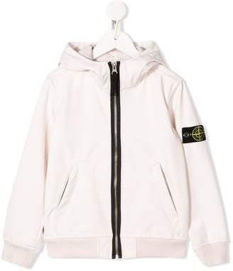 Stone Island Junior Soft Shell-R hooded jacket