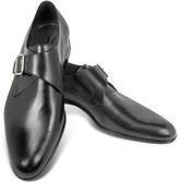 Moreschi Kobe Black Leather Monk Strap Shoes