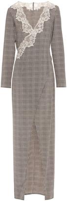 La Perla Wrap-effect Lace And Silk-blend Nightgown