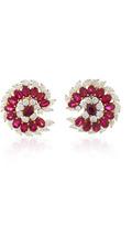 Bayco Ruby & Diamond Earrings