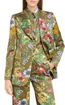Marc Jacobs Runway Floral Print Satin Blazer