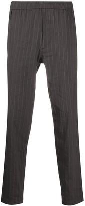 Theory Elasticated Waist Pinstripe Trousers
