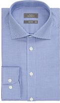 John Lewis Non Iron Mini Chevron Tailored Fit Shirt, Navy/white