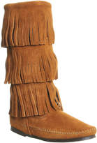 Minnetonka Calf Hi 3 Layer Fringe Boots