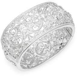 Adriana Orsini Crystal Ornate Large Bangle