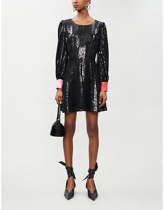 Olivia Rubin Bea heart-cutout sequinned mini dress