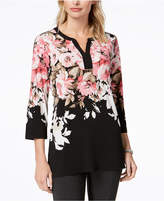 Charter Club Floral-Print Tunic, Created for Macy's