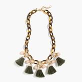 J.Crew Tortoise link and tassel necklace