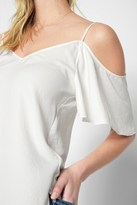 7 For All Mankind Off The Shoulder Cami In Soft White