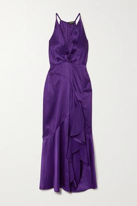 Tom Ford Ruffled Silk-satin Gown - Purple