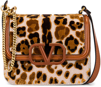 Valentino Small VSling Shoulder Bag in Natural & Selleria | FWRD