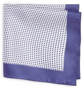 BOSS Men's Check Silk Pocket Square