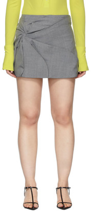 Coperni Grey Wool Vortex Miniskirt