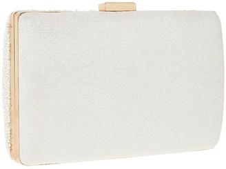 Accessorize Mrs Beaded Hard Case Clutch - Ivory