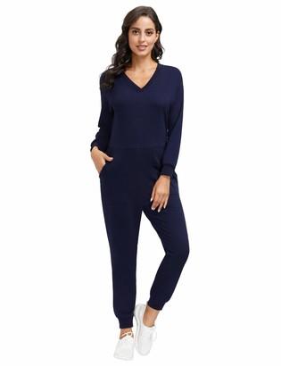 Zexxxy Damen Jumpsuits Super Soft Onesies Overalls S-XXL