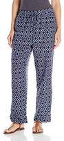 Vince Camuto Women's Slim Leg Tribal Batik Drawstring Pants