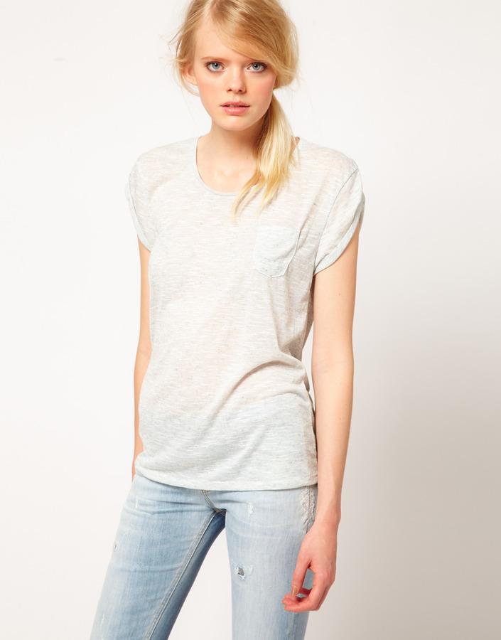 Denham Jeans Scoop Neck T-Shirt