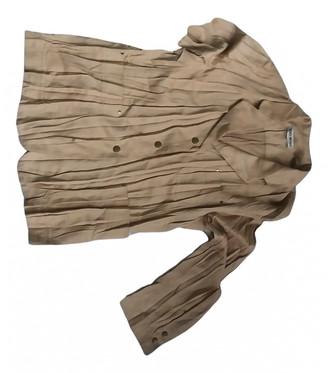 Issey Miyake Beige Suede Leather jackets