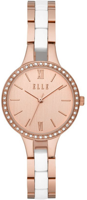 Elle Alesia Rose Gold-Tone Analogue