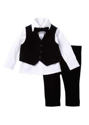 Isaac Mizrahi Velvet 4-Piece Suit (Toddler, Little Kids & Big Kids)
