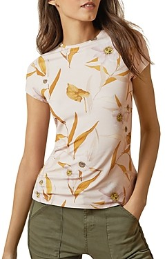 Ted Baker Juliay Printed Jersey Tee