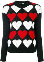 Love Moschino heart knitted jumper