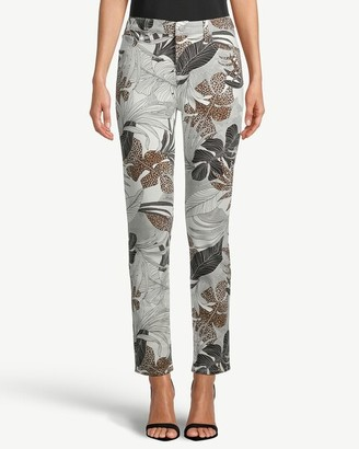 So Slimming Palm-Print Girlfriend Ankle Jeans