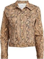 Frame Le Vintage Snake Denim Jacket