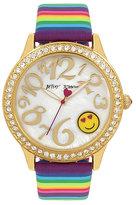 Betsey Johnson Rainbow Smiles Watch