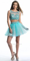 Dave and Johnny Clustered Sequin Two Piece Prom Dress