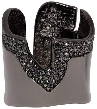 Kenneth Jay Lane Polished Gunmetal Cuff