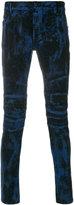 Balmain printed skinny jeans