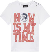 Diesel Now is my time cotton t-shirt 6-24 months