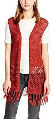 Freequent Women's Sleeveless Shrugs - Red - 8