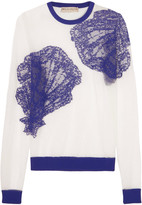 Emilio Pucci Embroidered mesh sweater