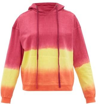 Arizona Love Alexa Tie-dye Cotton Hooded Sweatshirt - Pink Print