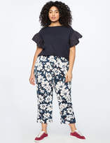 ELOQUII Printed Crop Trouser
