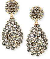 Oscar de la Renta Classic Crystal Teardrop Clip Earrings