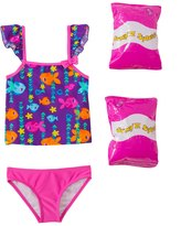 Jump N Splash Toddler Girl's Fab Fish TwoPiece Swimsuit w/ Free Floaties (2T-3T) - 8143015