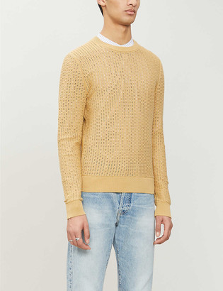 Sandro Pagnol cut-out cotton-knit jumper
