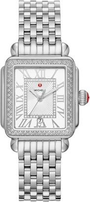 Michele Deco Diamond Watch Head & Bracelet, 29mm