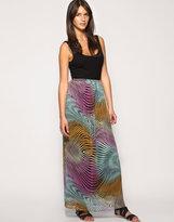 ASOS Printed Chiffon Maxi Skirt